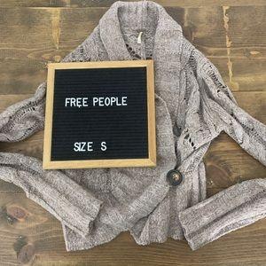 Free People Cardigan Knit Sweater